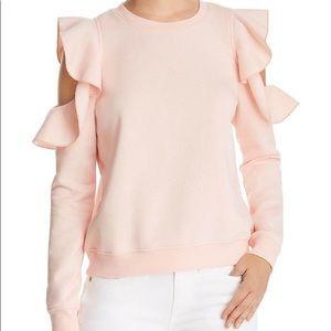 Rebecca Minkoff Gracie Pink Ruffle Sweatshirt NWT